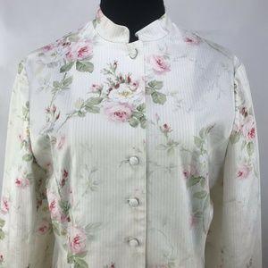 Vintage Ralph Lauren Womens Floral Mandarin large